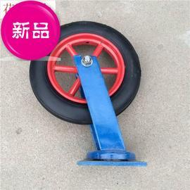 14寸重型万向实心轮 、橡胶轮 加厚底板工c业脚轮平板车推车轮子