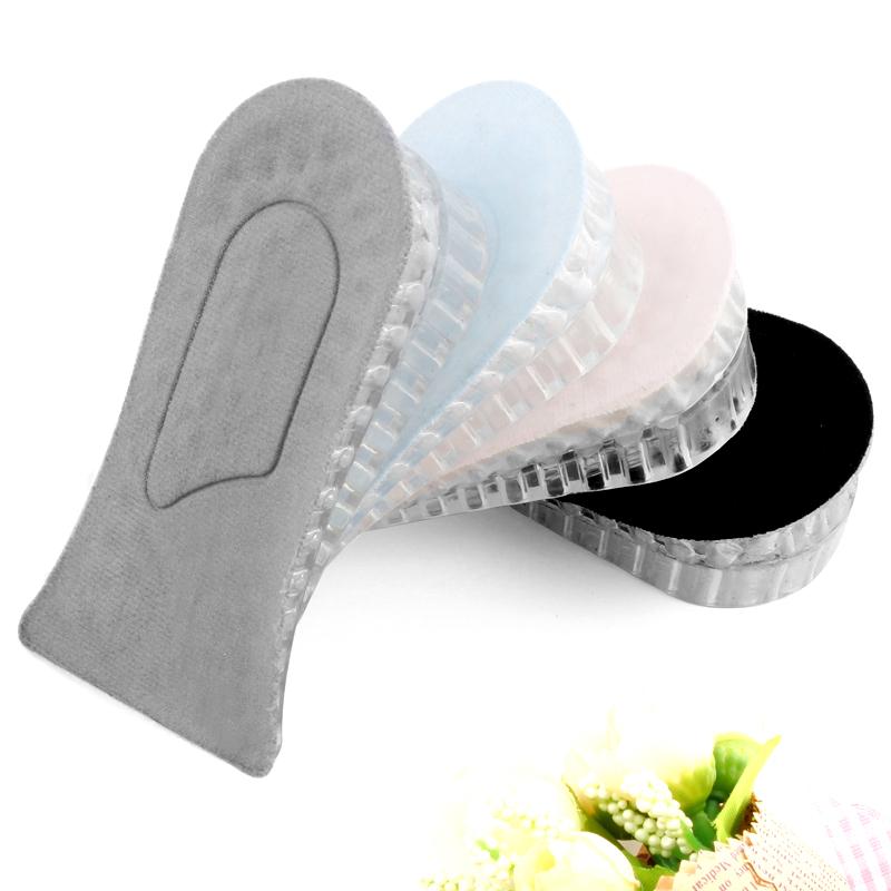 内增高鞋垫加厚隐形透气休闲鞋运动鞋垫透明硅胶增高垫半垫男女式需要用券