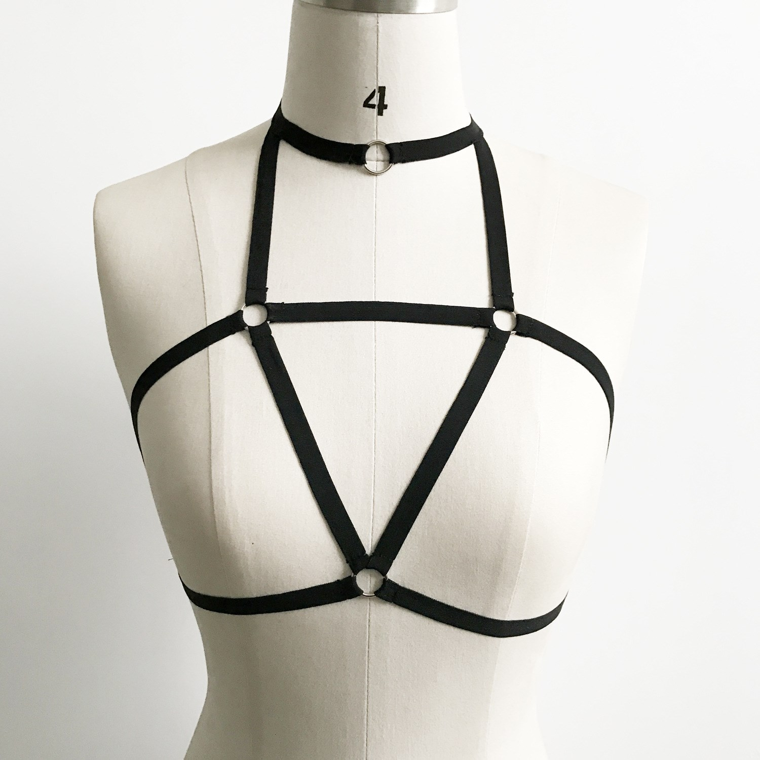 Sexy elastic strap necklace, chest chain, European and American new all-around solid color party nightclub bar elastic milk belt