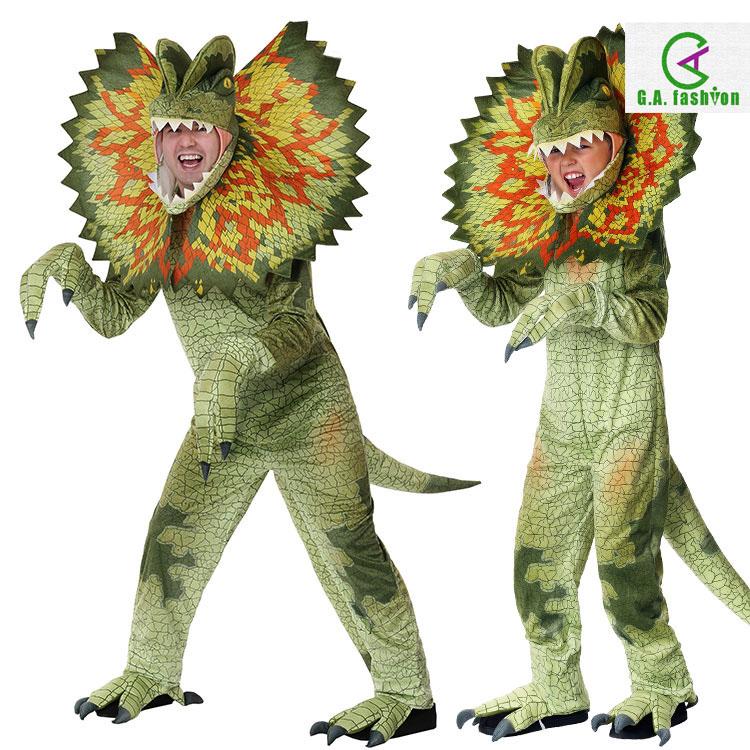 Halloween Carnival stage performance walk show Jurassic adult children dinosaur double ridged Dragon