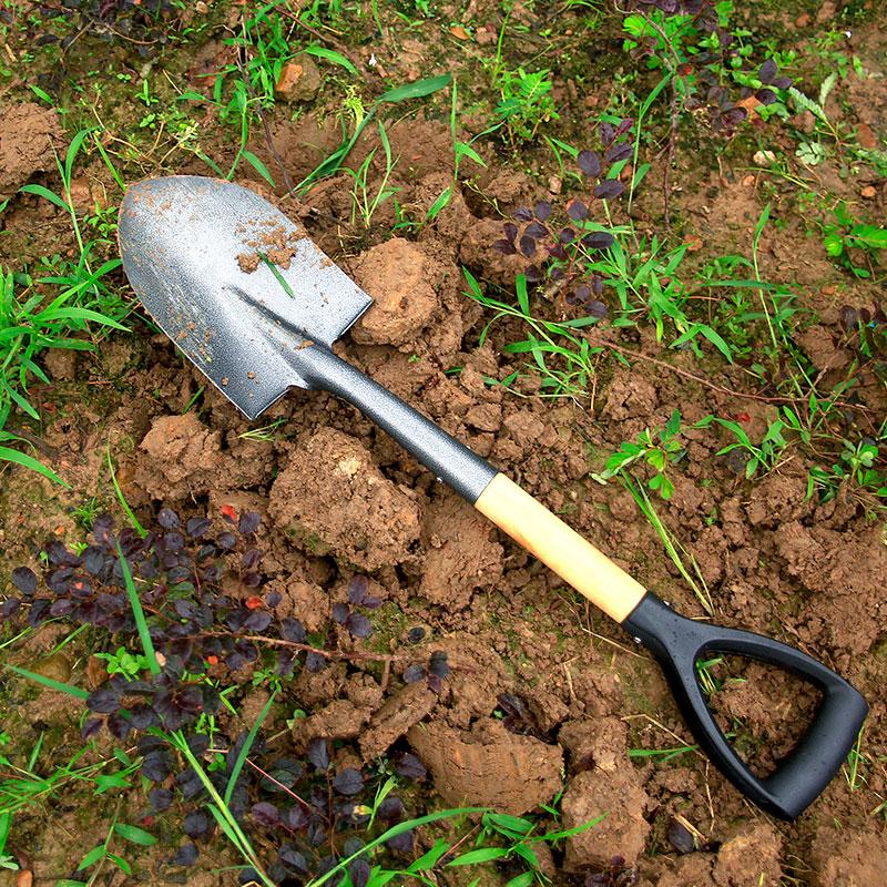 挖土大鏟子 戶外園藝鐵鍬 農用工具種菜樹錳鋼鏟雪家用園林養花鐵