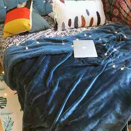 佐右爱加厚保暖珊瑚绒毯子双层法兰绒毛毯被子床单双人冬季小毛毯