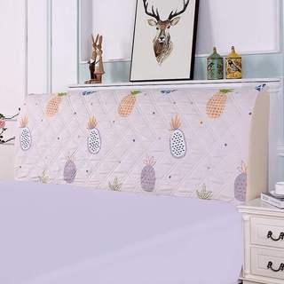 夹棉床头罩1.5米1.8米床简约现代欧式床头套防尘罩软包靠背保护。