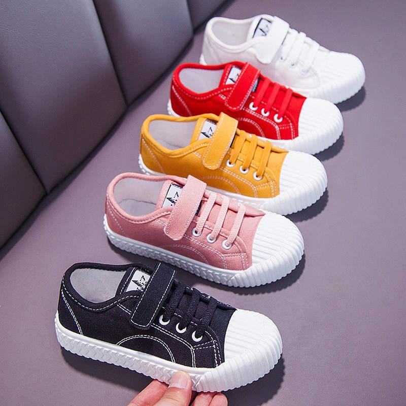 男女童帆布鞋时尚饼干鞋童鞋