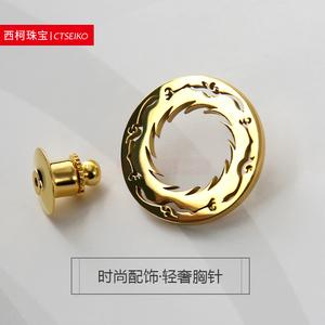 成都太阳神鸟镂空徽章定做中国文化遗产图腾标志胸章纪念珍藏胸针
