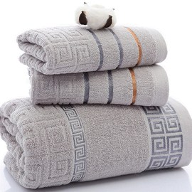 3Pcs Luxury Hotel Cotton Bath Towel Set Hand Face Towel 浴巾图片