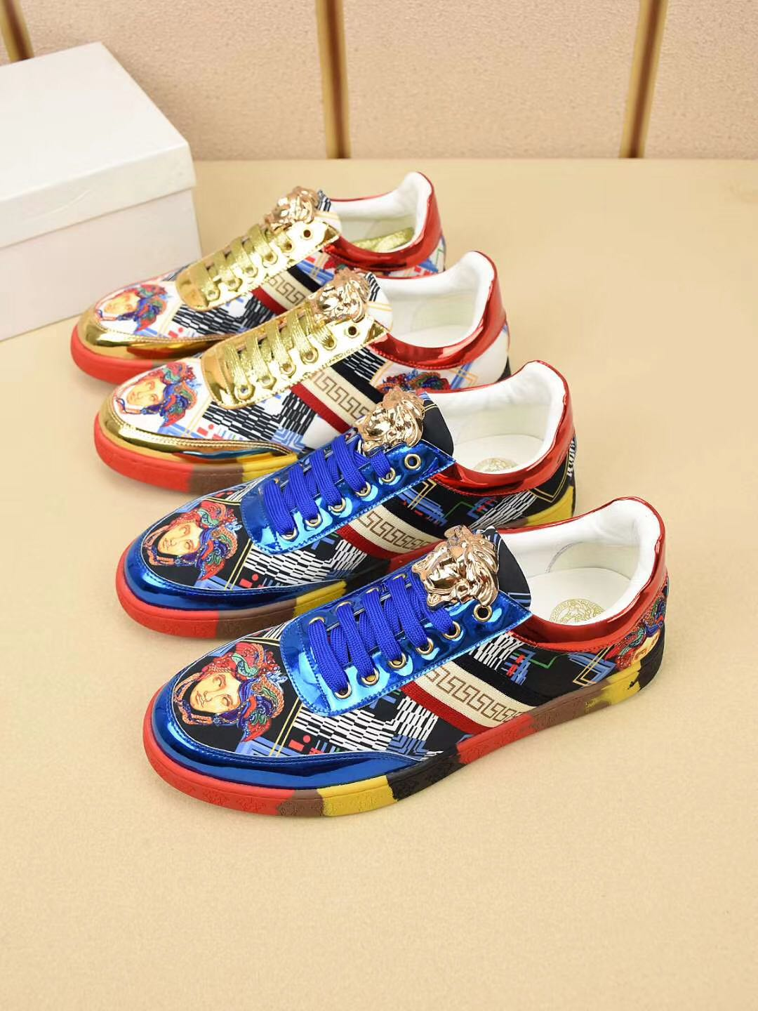 New low top lace up casual shoes printed pattern trendy shoes classic versatile four season breathable shoes comfortable head