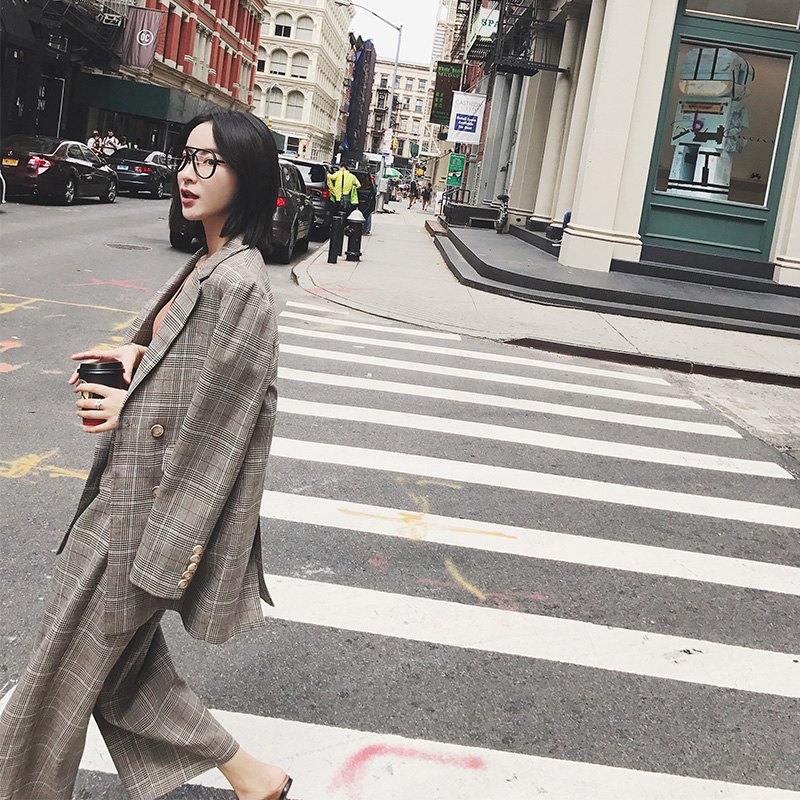 【13C】 через посещаемость двубортный ретро час грива длинный рукав 2017 осенью новый сетка костюм пальто FI40