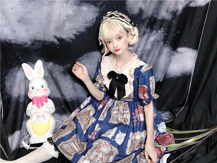 Original design classic doll OP retro doll exquisite lace dress woman Lolita Lolita