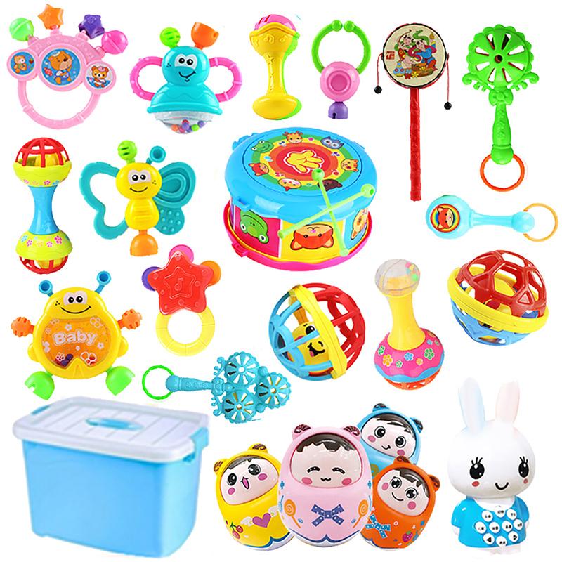 0-1岁婴幼儿摇铃3-6-12个月宝宝早教益智儿童手摇铃男女婴儿玩具