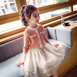 洋气女孩春装 女童小香风套裙新款 网红套装 裙春秋中大童时髦两件套