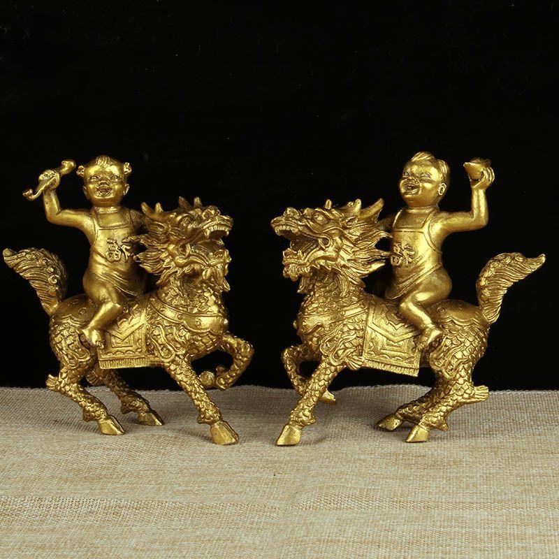 Copper. Kirin ornaments home ornaments living room bedroom ornaments