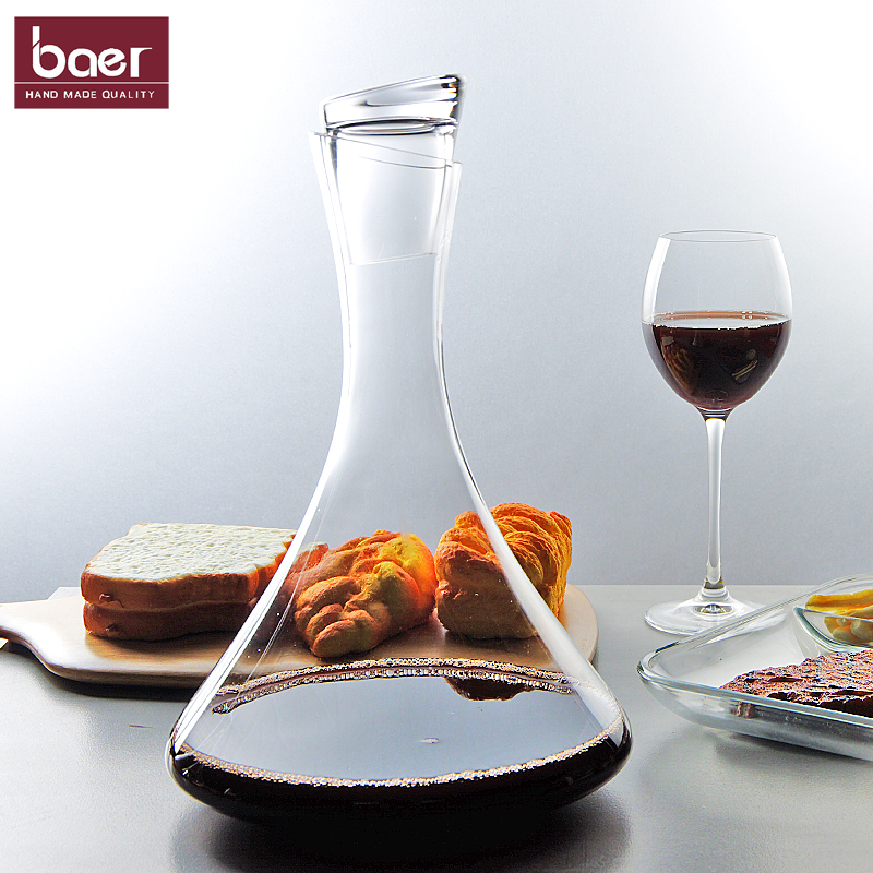 European style household wine decanter with cover and elegant personality