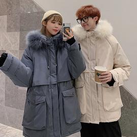 法式情侣装冬装2020新款韩版加厚棉服女ins宽松棉衣外套roora潮牌图片