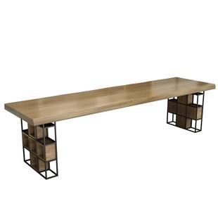 實木茶桌椅組合新中式辦公室大板簡約現代客廳家用禪意功夫茶几台