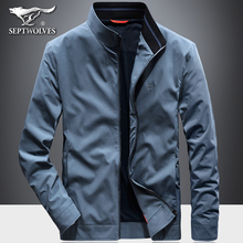 Seven Wolf Jackets Men's Outerwear New Business Leisure Collar Jacket Thin Father's Windswear in Spring and Autumn of 2019