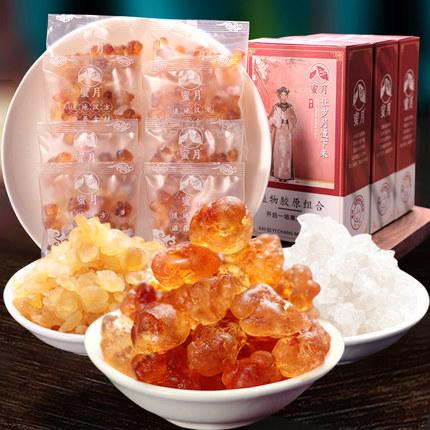 桃胶天然野生特级正品无杂质双颊雪莲子桃胶雪燕皂角米组合装10袋