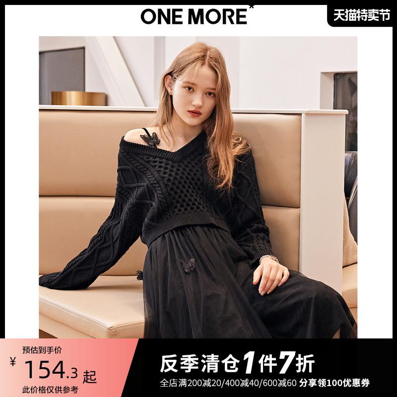 one more2019秋冬新款气质法式毛衣