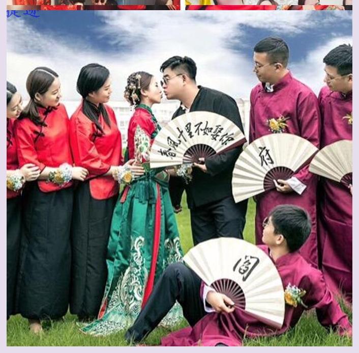 话剧年会合唱团大方道具国民衬衫演出服大气伴郎伴娘服套装中式
