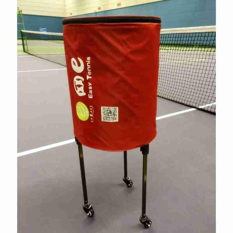 Telescopic tennis ball picking basket coach car bag basket with portable e wheel portable multi