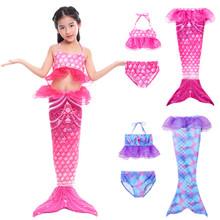 美人鱼衣服服装鱼尾公主裙游泳衣女童女孩鱼尾巴儿童泳衣套装宝宝