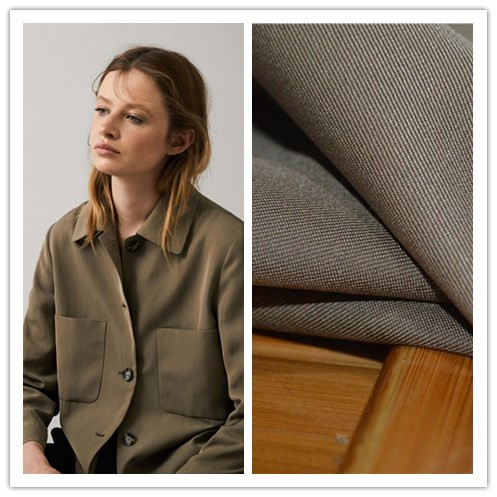 Italian brand Mar * Zotto twill wool cotton skin friendly fabric earth color shirt dress T-shirt pants