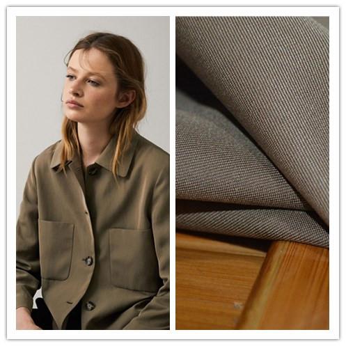 意大利品牌mar*zotto斜纹羊毛棉亲肤面料大地色衬衫连衣裙T恤裤