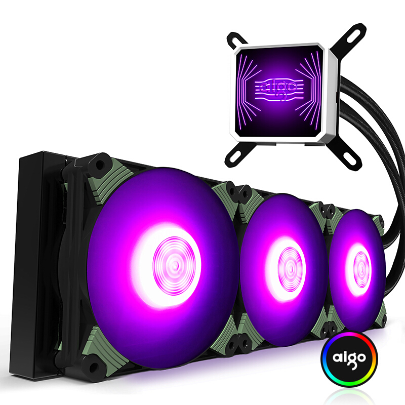 爱国者冰塔冰魄T120/240CPU水冷散热器套装RGB360一体式风扇水排