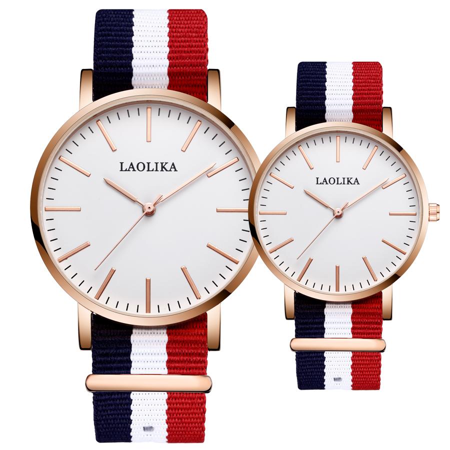 原宿系情侣夜光手表薄款手表学生手表防水运动休闲薄款帆布带对表