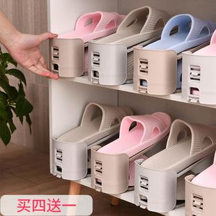 日本鞋托双层鞋架家用置物架可调节宿舍省空间鞋柜鞋子收纳神器价格