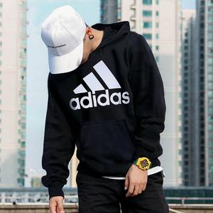 Adidas阿迪达斯卫衣男秋季新款正品休闲运动服连帽卫衣长袖套头衫