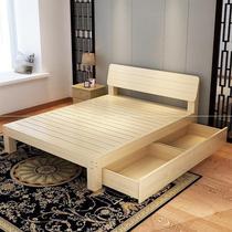 出租屋床一米八租房子用的床经济型简易实木现代简约双人床专用