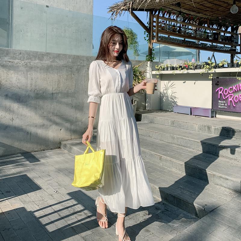 1841#实拍~小视频~2019夏季度假连衣裙 ~ 国泰2楼100档拿货