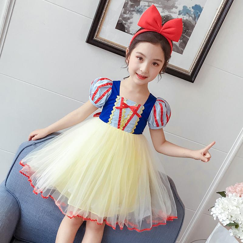 白雪公主裙女童连衣裙2020夏季新款童装儿童洋气裙子小女孩蓬蓬纱