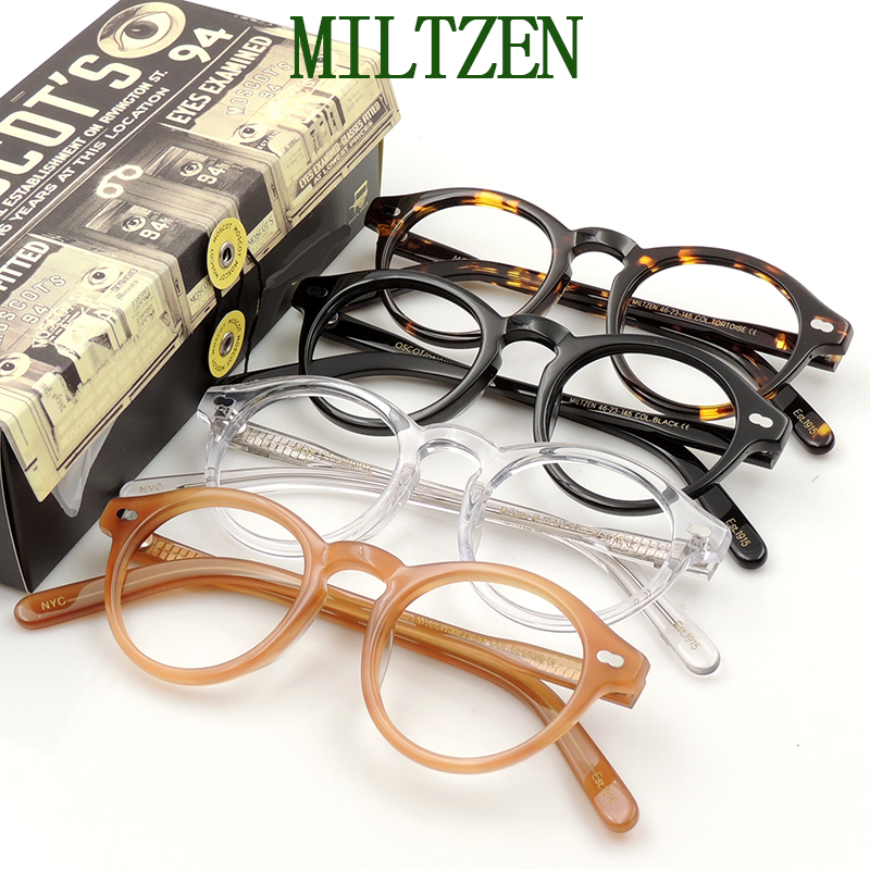 Miltzen full frame plate glasses frame mens and womens small face 135 wide and 48 high Jiangyin Boshi