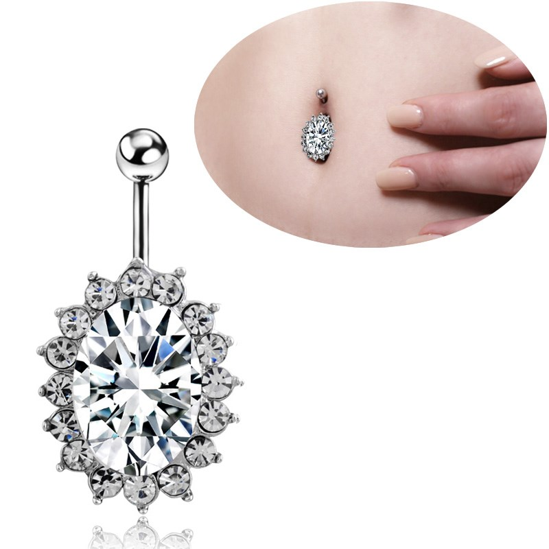 18 year new puncture navel nail 316L new navel belly button in Europe and America sky blue jewelry other jewelry