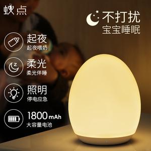 领10元券购买卧室充电式插电节能睡眠床头台灯