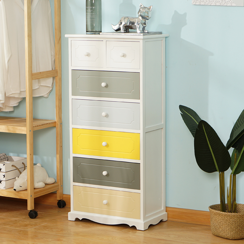 Chest of drawers special price clearance economical color solid wood modern simple large capacity IKEA bedroom storage seven bucket cabinet