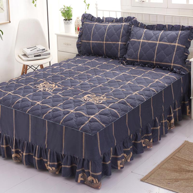床裙单件床罩床裙式保护套床罩套单件保护套1.5米1.8夹棉床单床笠