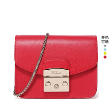 FURLA/Fula Ladies Bag Yang Zi Mini-type Single Shoulder Oblique Chain Lock Small Square Bag Piggy Bag