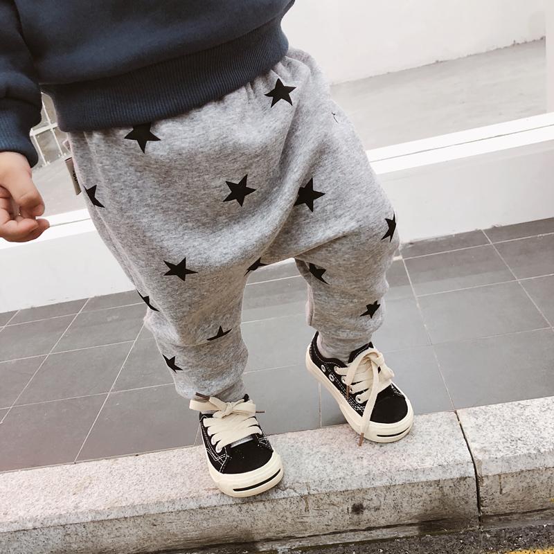 宝宝抓绒裤冬装2020新款长裤加绒裤