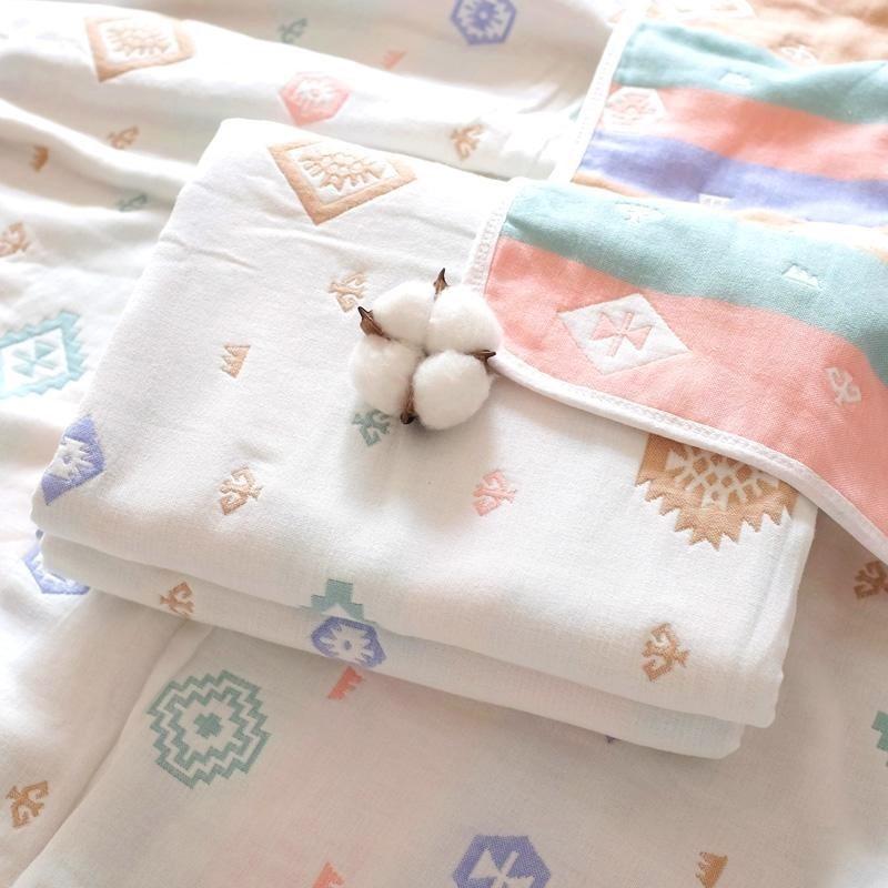 婴儿纱布浴全面纯棉时代官方新生儿童宝宝加厚夏凉被棉被被子旗舰