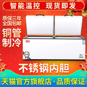 妮雪速冻卧式冰箱冷柜大冰柜冷藏单温商用大容量小冰柜冷冻柜家用