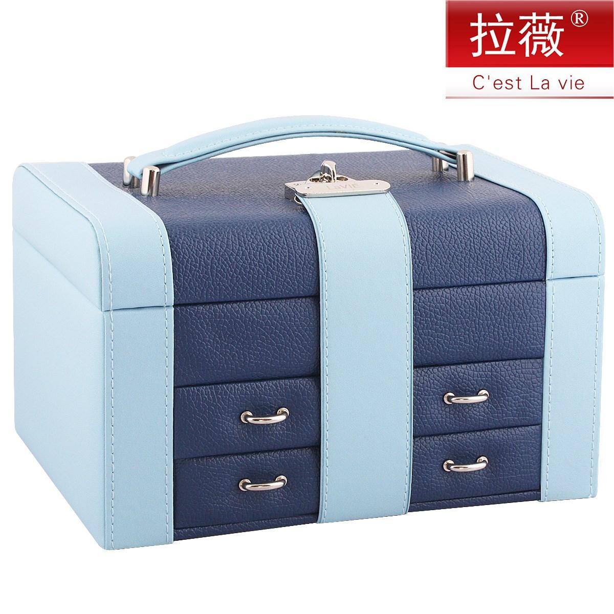 首�盒 大小�p拼 �W式公主首�收�{盒化�y盒 �品盒珠��箱