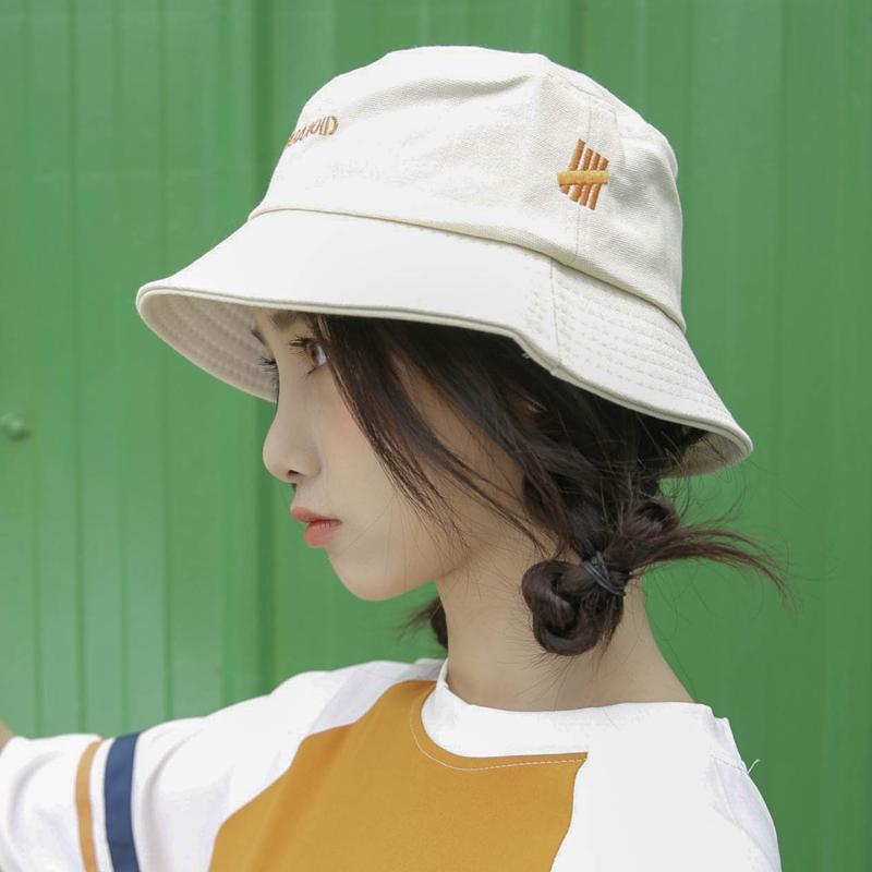 夏季渔夫帽女日系短发小清新韩版百搭遮阳帽潮牌防晒可爱帽子薄款图片