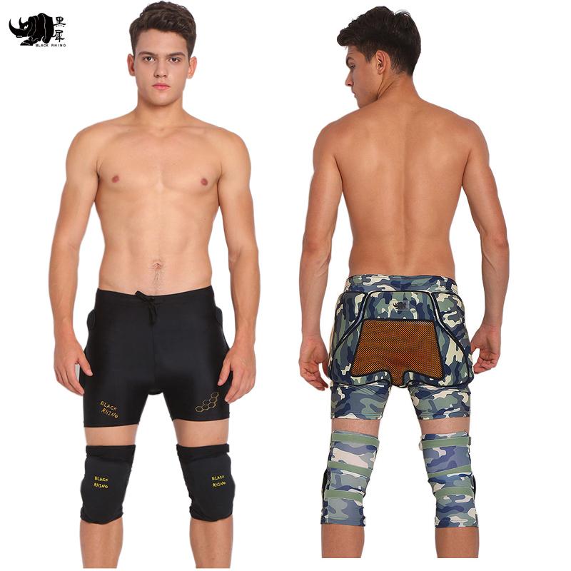 黑犀软护王三代单板护臀 UD智能分子滑雪护臀滑冰加厚防摔裤