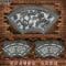 石雕浮雕扇形壁画大理石精雕荷花鱼吉祥图案中式青石窗花门头挂画