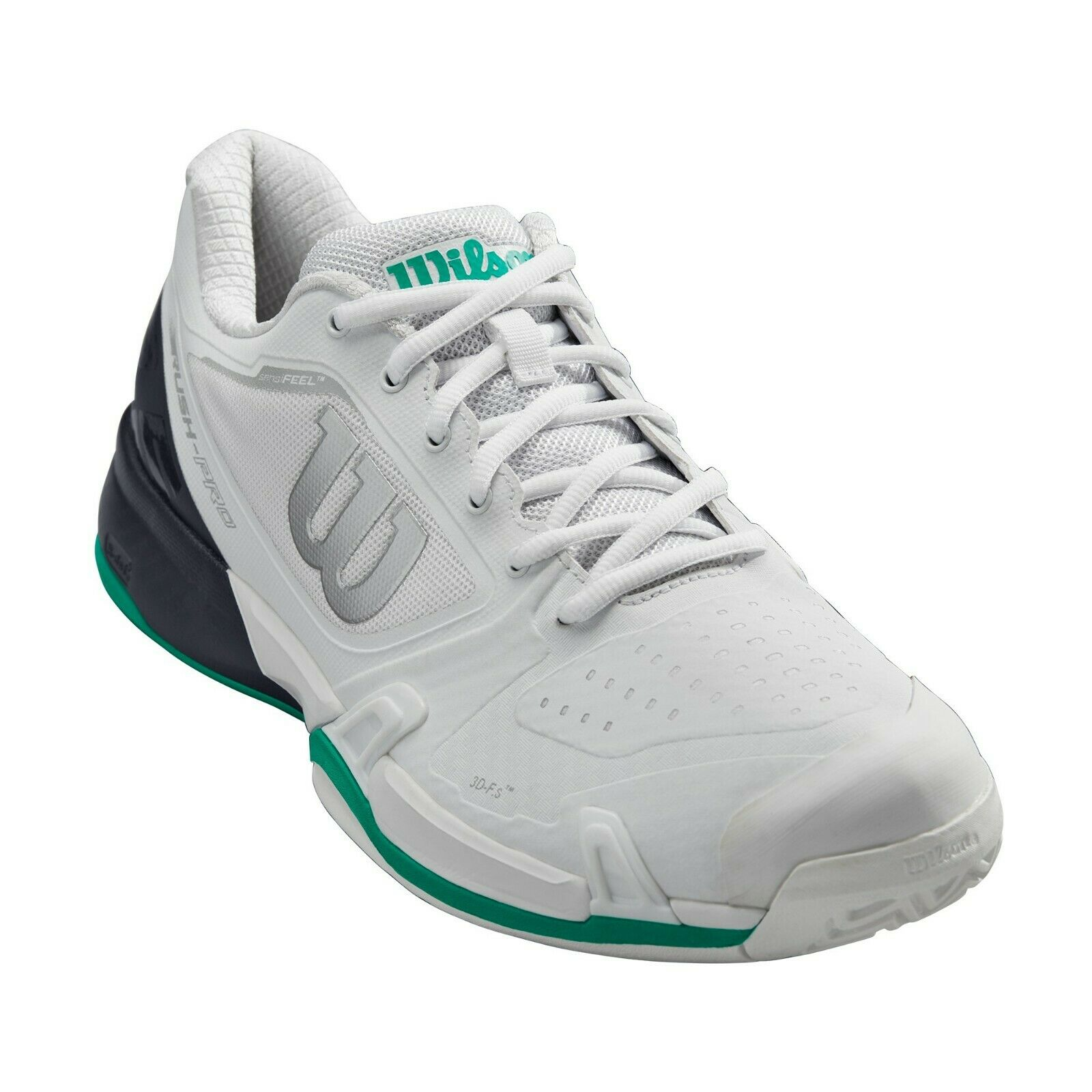 Purchase of Wilson will win rush 2.5 professional mens tennis shoes in white and green