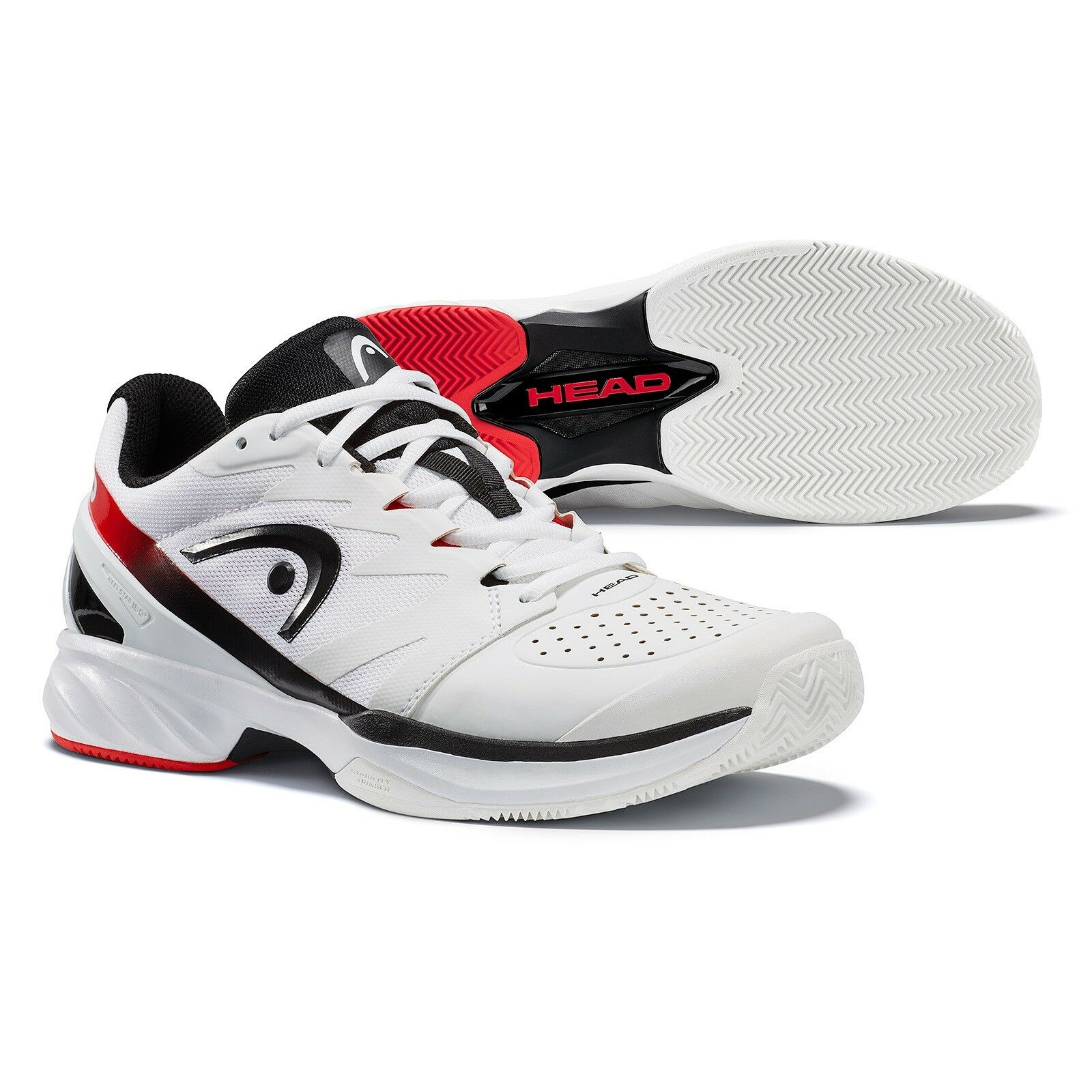 Headsprint Pro 2.0 clay mens tennis shoes court shoes white black