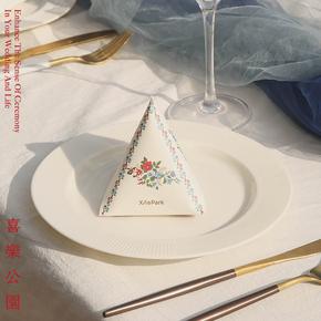 喜乐公园三角花鸟喜糖盒空盒中式复古结婚创意高档装糖果袋子礼盒